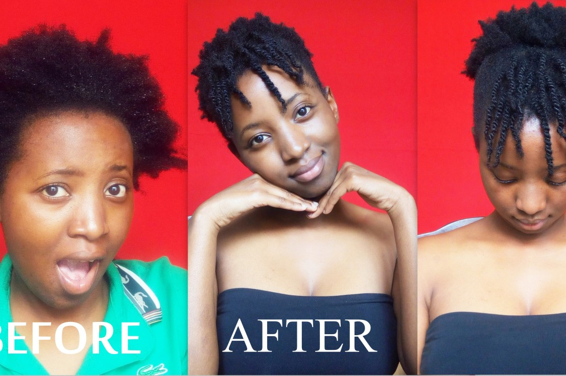 A SIMPLE FAUX BANG HAIRSTYLE